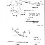 """Topografía de la cueva """"Abrigos Altos del Barranco"""""""